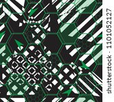 abstract seamless football... | Shutterstock .eps vector #1101052127