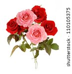 Pink And Red Roses Bunch...