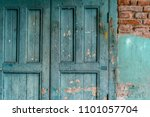 Weathered Door On An Old...