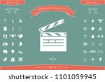 clapperboard icon symbol | Shutterstock .eps vector #1101059945