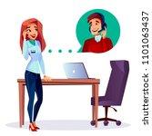 vector cartoon satisfied...   Shutterstock .eps vector #1101063437