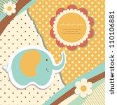 romantic baby art hand drawing... | Shutterstock .eps vector #110106881
