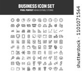 a set of 100 business related... | Shutterstock .eps vector #1101071564