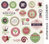 set of labels and elements for... | Shutterstock .eps vector #110108489