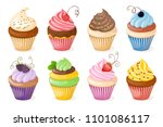 realistic isolated colorful... | Shutterstock .eps vector #1101086117