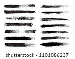 set of grunge brush strokes... | Shutterstock .eps vector #1101086237