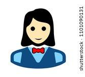 silhouette waitress  waiter... | Shutterstock .eps vector #1101090131