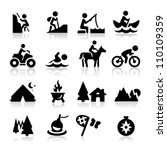 Recreation icons | Shutterstock vector #110109359