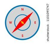 vector compass illustration... | Shutterstock .eps vector #1101095747