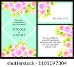vintage delicate invitation...   Shutterstock . vector #1101097304
