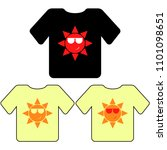 t shirt template  model with... | Shutterstock .eps vector #1101098651