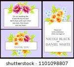 vintage delicate invitation... | Shutterstock .eps vector #1101098807