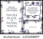 vintage delicate invitation... | Shutterstock .eps vector #1101098897