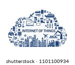 internet of things  industry 4... | Shutterstock .eps vector #1101100934
