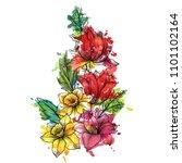 vintage vector floral...   Shutterstock .eps vector #1101102164