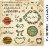 hand drawn calligraphic design... | Shutterstock .eps vector #110110361