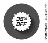 discount sticker vector icon in ... | Shutterstock .eps vector #1101104744