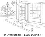 bar exterior graphic black... | Shutterstock .eps vector #1101105464