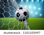 3d rendering soccer ball in... | Shutterstock . vector #1101105497