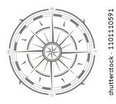 vector icon with compass rose... | Shutterstock .eps vector #1101110591