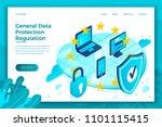 vector concept illustration   ... | Shutterstock .eps vector #1101115415