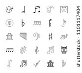 melody icon. collection of 25... | Shutterstock .eps vector #1101117404