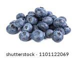 blueberries isolated on white... | Shutterstock . vector #1101122069