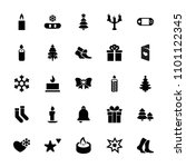 christmas icon. collection of...   Shutterstock .eps vector #1101122345