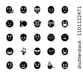 emoticon icon. collection of 25 ...   Shutterstock .eps vector #1101122471