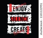 slogan abstract art for tee... | Shutterstock .eps vector #1101122951