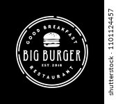 burger stamp logo design... | Shutterstock .eps vector #1101124457