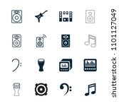 bass icon. collection of 16...   Shutterstock .eps vector #1101127049
