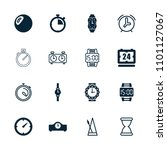 timer icon. collection of 16... | Shutterstock .eps vector #1101127067