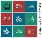deliver icon. collection of 9... | Shutterstock .eps vector #1101128384