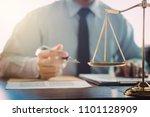 judge gavel with justice... | Shutterstock . vector #1101128909