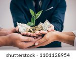 hands of business team holding... | Shutterstock . vector #1101128954