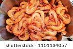 plenty of cooked shimps or... | Shutterstock . vector #1101134057