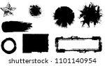 grunge design elements . brush... | Shutterstock .eps vector #1101140954