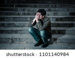 latin man stressed from work... | Shutterstock . vector #1101140984