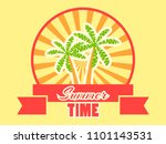 summer time logo with fruits... | Shutterstock .eps vector #1101143531