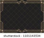 art deco frame. vintage linear... | Shutterstock .eps vector #1101143534