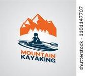 canoe or kayaking logo designs... | Shutterstock .eps vector #1101147707