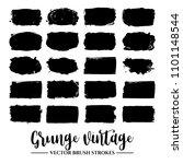 set of black brush stroke and... | Shutterstock .eps vector #1101148544