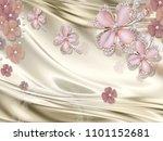 3d luxury wallpaper design with ... | Shutterstock . vector #1101152681