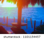 sunrise at caribbean sea beach. | Shutterstock . vector #1101154457