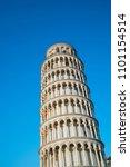 leaning tower of pisa in pisa ... | Shutterstock . vector #1101154514