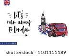 travel london banner. retro...