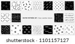 scribble patterns set. doodles... | Shutterstock .eps vector #1101157127