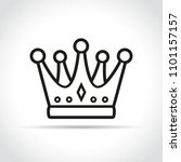 illustration of crown icon on... | Shutterstock .eps vector #1101157157