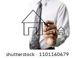 hand drawing a house | Shutterstock . vector #1101160679